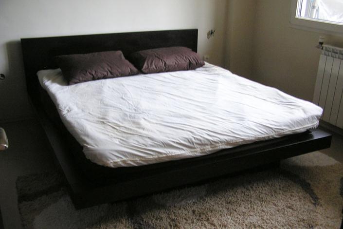 Спалня по проект с корпус от MDF с естествен фурнир венге