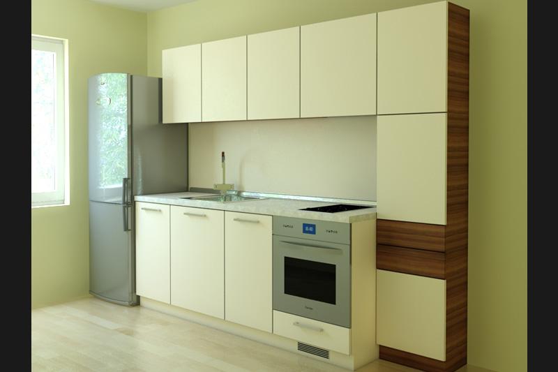 3D проект на кухня