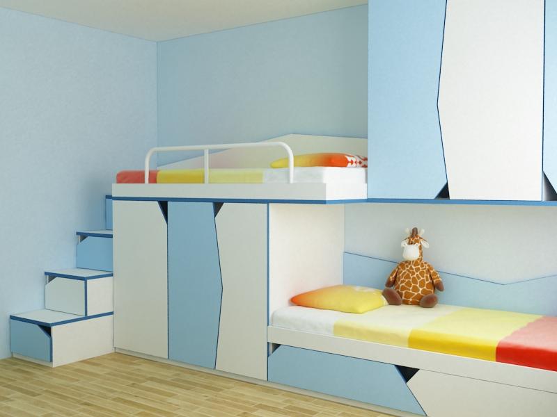 Проект за детска стая с две легла