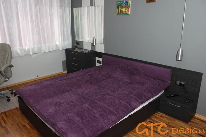 Мебели за спалня в черно и бяло