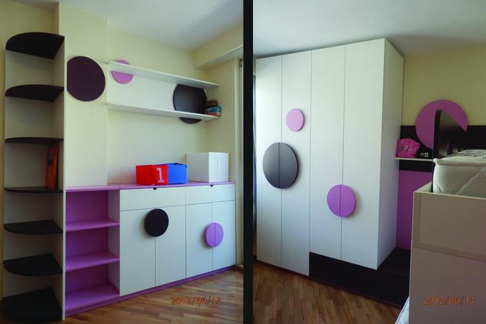 Гардероб и секция за детска стая за две момичета