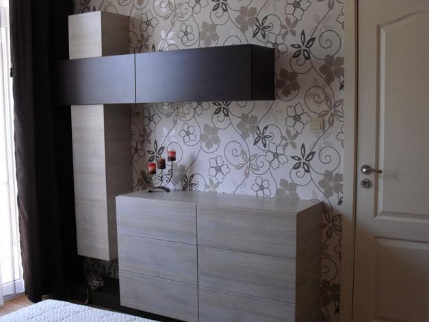 Скрин и секция за спалня по проект от MDF плоскости