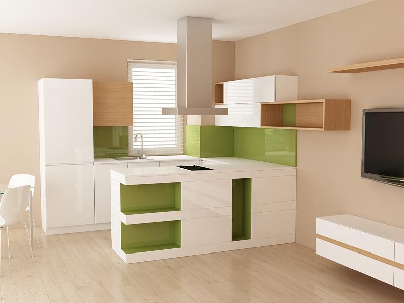 Проект за кухненски шкафове с барплот