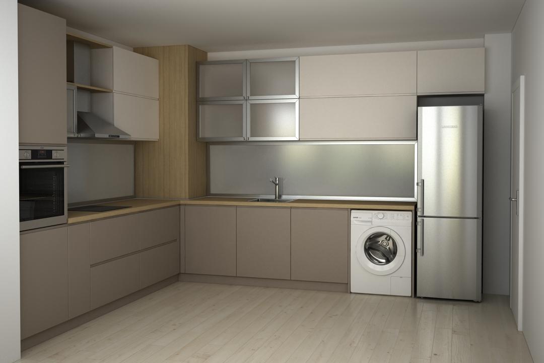 Кухня от МДФ и алуминиеви витрини